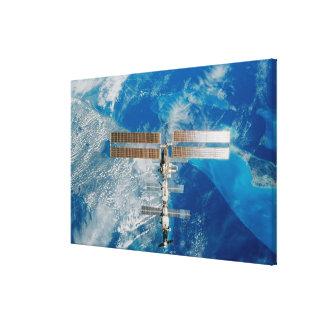 La estación espacial impresiones en lienzo estiradas