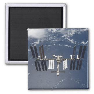 La estación espacial internacional 13 imán cuadrado