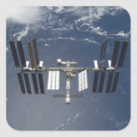 La estación espacial internacional 13 pegatina cuadrada
