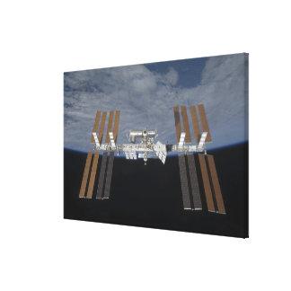 La estación espacial internacional 14 impresión en tela