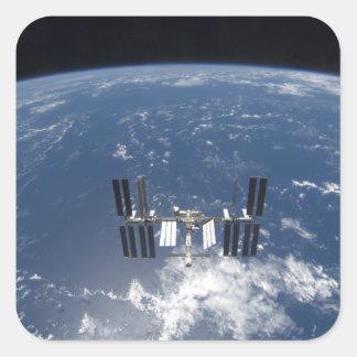 La estación espacial internacional 14 pegatina cuadrada