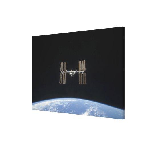 La estación espacial internacional 7 lona envuelta para galerias