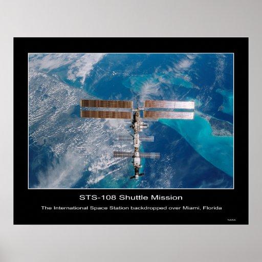 La estación espacial internacional sobre Miami, FL Impresiones