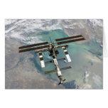 La estación espacial internacional tarjeta