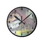 La estación espacial relojes de pared