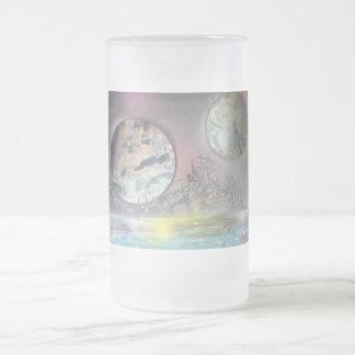 La estación espacial taza de cristal