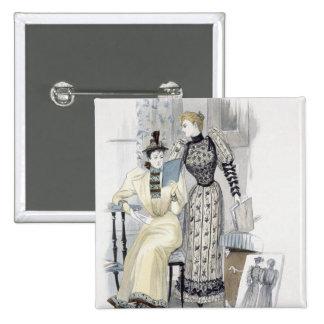 """La estación, placa de moda para """"la reina"""", Septem Pin Cuadrada 5 Cm"""