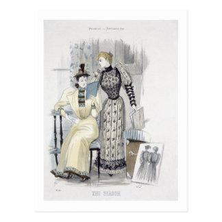 "La estación, placa de moda para ""la reina"", tarjeta postal"