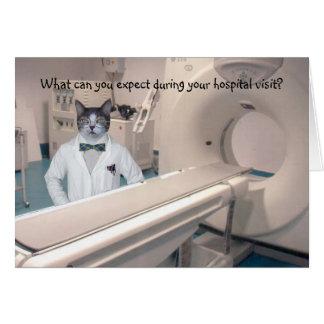 La estancia divertida adaptable del hospital tarjeta de felicitación
