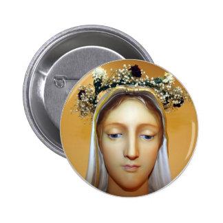 La estatua bendecida del Virgen María (pueda coron Pin