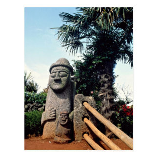 La estatua de abuelo, Cheju-hace isla, Corea del S Postal