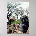 La estatua de abuelo guarda contra mal, Cheju-hace Impresiones