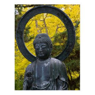 La estatua de Budda en el japonés cultiva un Tarjeta Postal