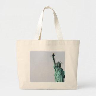 La estatua de la libertad bolsa tela grande
