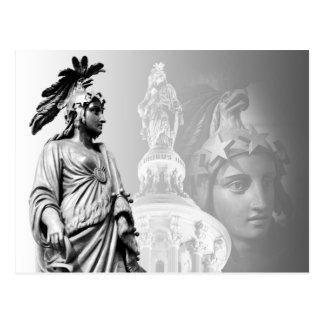 La estatua de la libertad, capitolio de los E.E.U. Tarjeta Postal