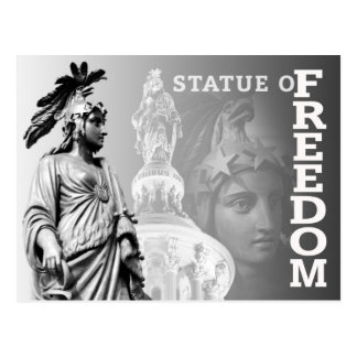 La estatua de la libertad, capitolio de los postales