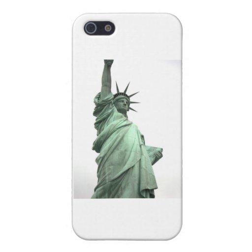 La estatua de la libertad en el puerto de Nueva Yo iPhone 5 Carcasas