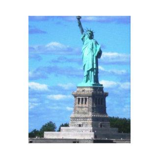 La estatua de la libertad impresiones en lona estiradas