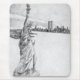 La estatua de la libertad mousepad