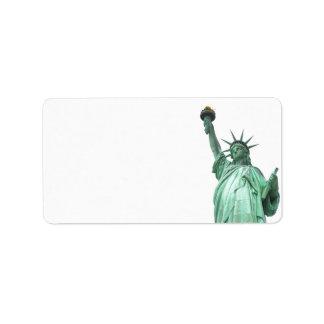 La estatua de la libertad, New York City Etiqueta De Dirección