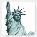 La estatua de la libertad colcomanias cuadradas personalizadas