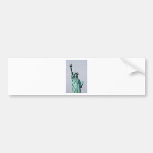 La estatua de la libertad pegatina de parachoque
