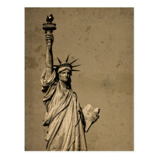 La estatua de la libertad postales