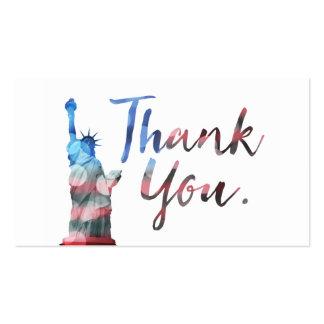 la estatua de la libertad refiere un programa del tarjetas de visita