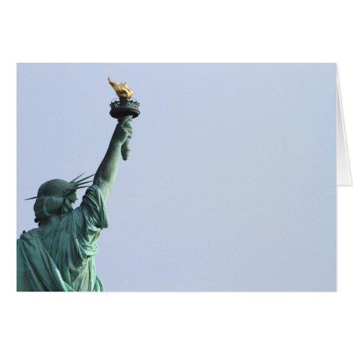 La estatua de la libertad tarjeta de felicitación