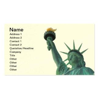 La estatua de la libertad tarjetas de visita