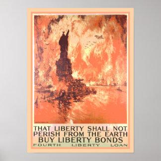 La estatua de Nueva York de la libertad no fallece Póster