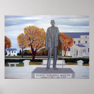 La estatua de Wadlow Póster