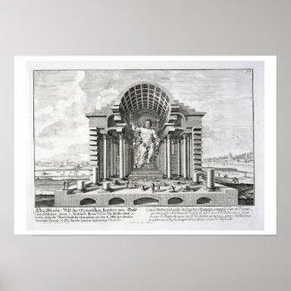 La estatua de Zeus olímpico por Phidias, platea 5  Poster