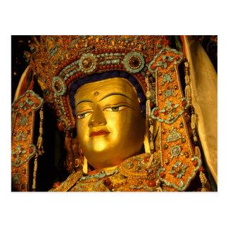 La estatua dorada de Jowo Buda templo de Jokhang Postales