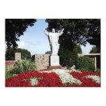 La estatua subida del Jesucristo Invitación 12,7 X 17,8 Cm