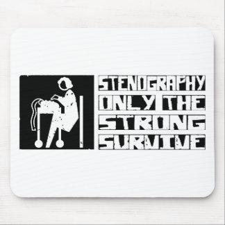 La estenografía sobrevive mousepads