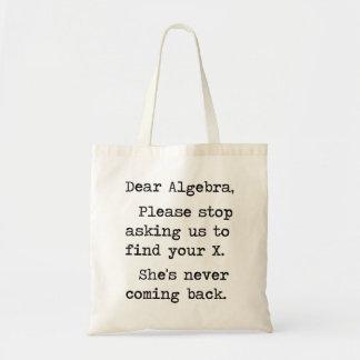 La estimada álgebra para por favor el pedir que de bolsa