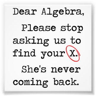 La estimada álgebra para por favor el pedir que de fotografía