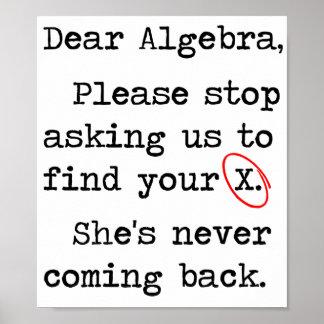 La estimada álgebra para por favor el pedir que de impresiones