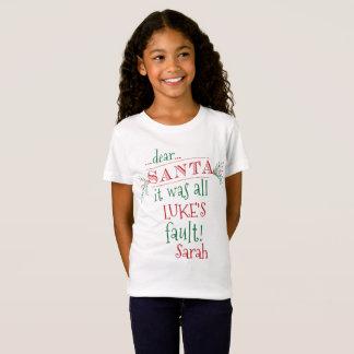 La estimada camisa de encargo de Santa, añade
