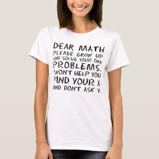 La estimada matemáticas divertida crece por favor playera