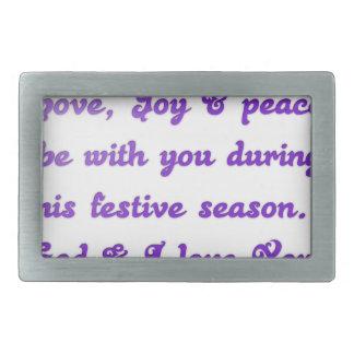 La estimada paz de la alegría del amor del amigo hebillas de cinturón rectangulares