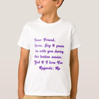 La estimada paz de la alegría del amor del amigo playera