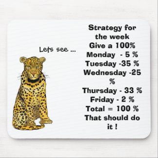 La estrategia para la semana da un 100% alfombrilla de ratones