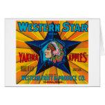 La estrella Apple occidental etiqueta - Yakima, WA Tarjeta De Felicitación