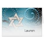 La estrella azul del trullo del David y los crista Tarjeton