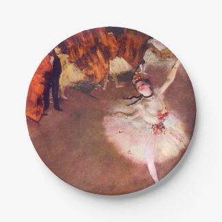 La estrella (bailarín en la etapa) por Edgar Degas Plato De Papel De 7 Pulgadas
