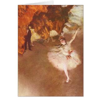 La estrella (bailarina de Prima) por Edgar Degas Tarjeta De Felicitación