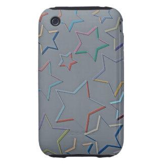 La estrella coloreada resume la casamata de iPhone 3 tough funda