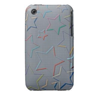 La estrella coloreada resume la casamata del iPhone 3 Case-Mate carcasas
